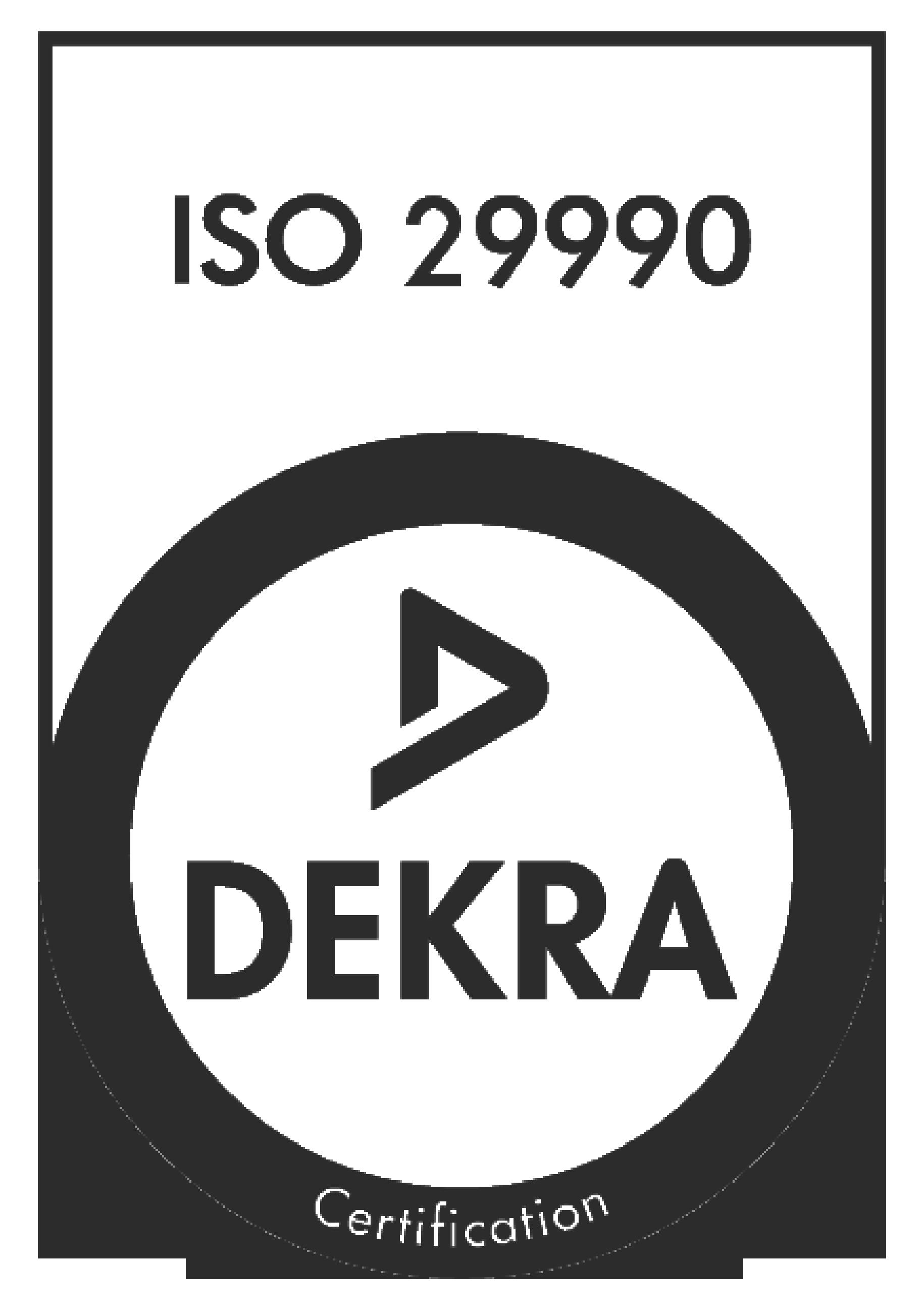 Aisthésis certifié qualité ISO 29990